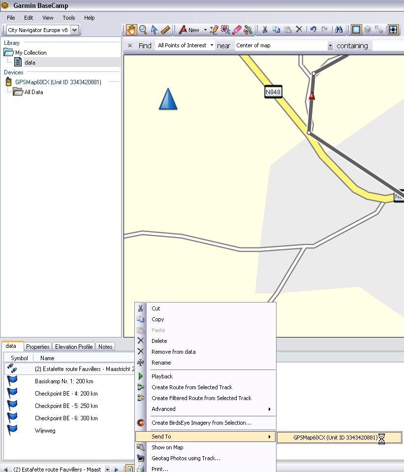 BaseCamp (GARMIN)   RouteYou Help